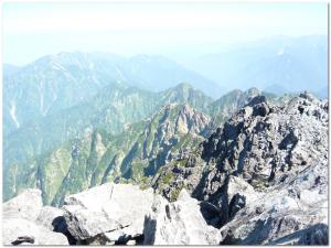 剱岳山頂から