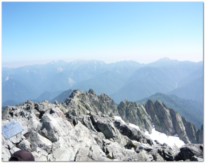 剱岳からの景色